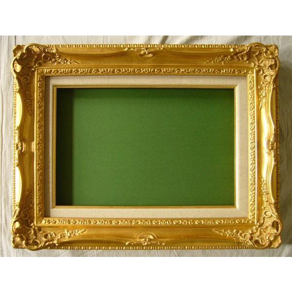 額縁 油絵額縁 油彩額縁 木製フレーム アクリル付 7840 サイズF6号|touo