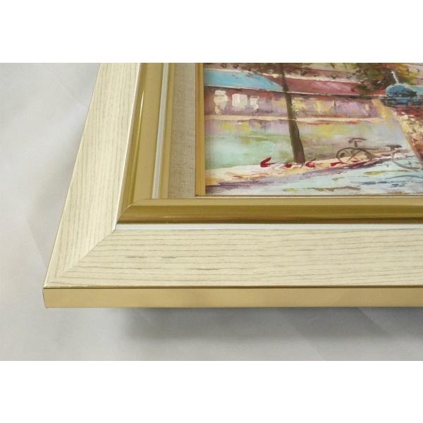 絵画 油絵 肉筆絵画 壁掛け (額縁 アートフレーム付き)サイズF6号 「パリの風景」 C・コックス|touo|02