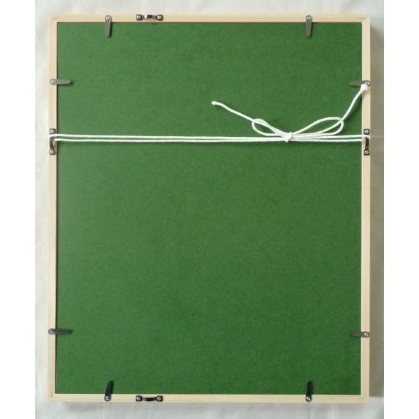 絵画 リトグラフ インテリア 壁掛け (額縁 アートフレーム付き) まつもととしこ作 「浮き輪」 四ッ切サイズ|touo|02