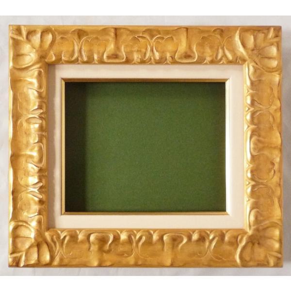 額縁 油絵額縁 油彩額縁 木製フレーム 風紋 サイズF6号 touo 02
