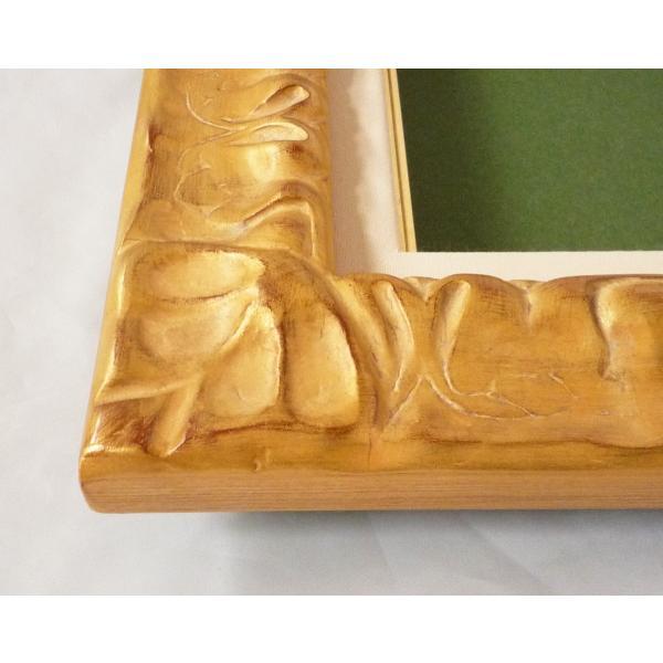 額縁 油絵額縁 油彩額縁 木製フレーム 風紋 サイズF6号 touo 03