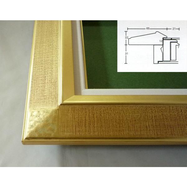 額縁 油彩額 油絵額縁 木製フレーム 平傾斜角紋 サイズF6号|touo|04