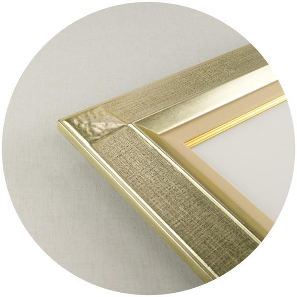額縁 油彩額 油絵額縁 木製フレーム 平傾斜角紋 サイズF6号|touo|02