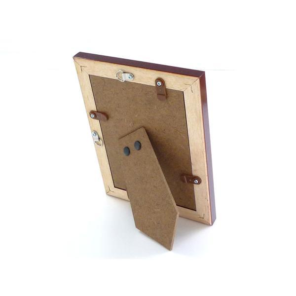 額縁 フォトフレーム 写真立て 木製フレーム C018 L マホガニ|touo|03