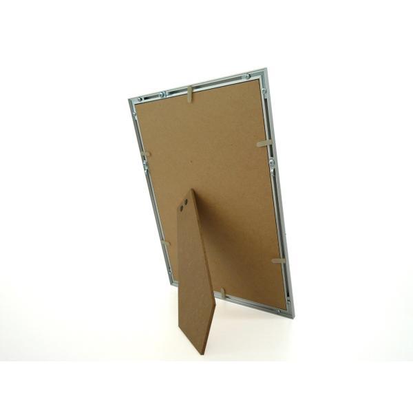 額縁 OA額縁 ポスター額縁 アルミフレーム デジタルプリント A4サイズ シルバー|touo|03