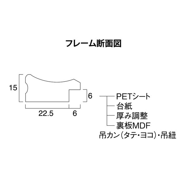 賞状額縁 フレーム 許可証額縁 金ラック-R PET A4サイズ SP|touo|05