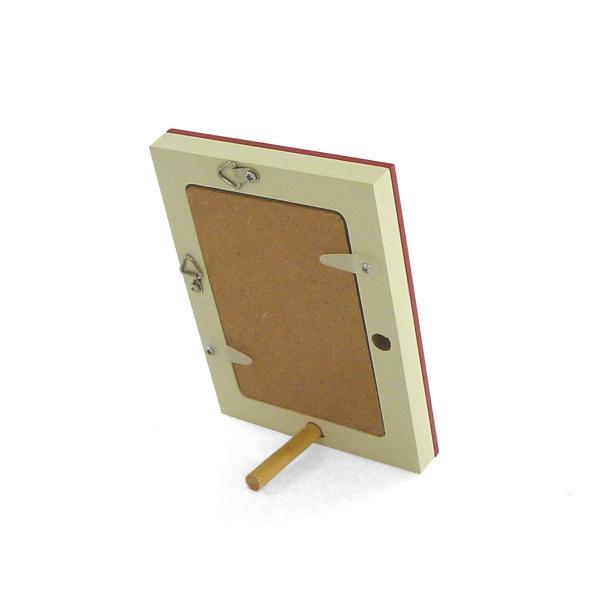 額縁 フォトフレーム 写真立て 木製フレーム フォト コロル カード A-7 レッド/クリーム touo 03
