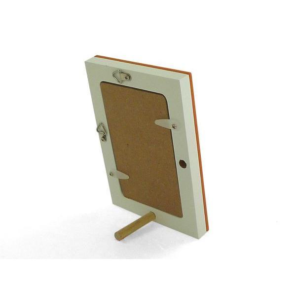 額縁 フォトフレーム 写真立て 木製フレーム フォト コロル 名刺 A-1 オレンジ/ホワイト touo 03