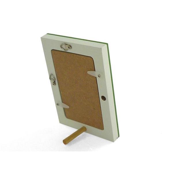 額縁 フォトフレーム 写真立て 木製フレーム フォト コロル 名刺 A-2 グリーン/ホワイト|touo|03
