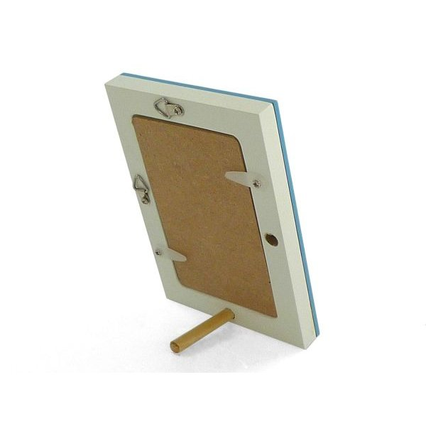 額縁 フォトフレーム 写真立て 木製フレーム フォト コロル 名刺 A-4 ブルー/ホワイト|touo|03