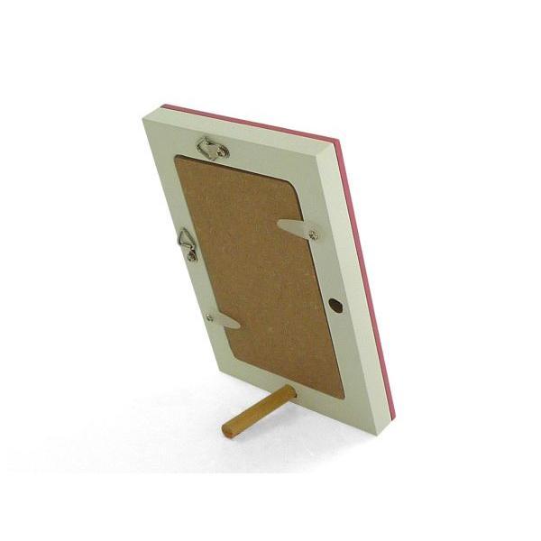 額縁 フォトフレーム 写真立て 木製フレーム フォト コロル 名刺 A-5 ピンク/ホワイト|touo|03