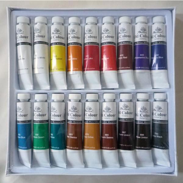 画材 18色 油絵の具セット 12ml×18色 touo