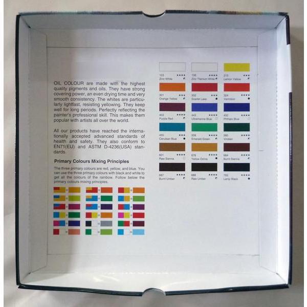 画材 18色 油絵の具セット 12ml×18色 touo 03