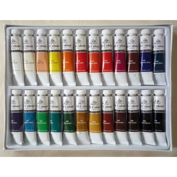 画材 24色 油絵の具セット 12ml×24色|touo