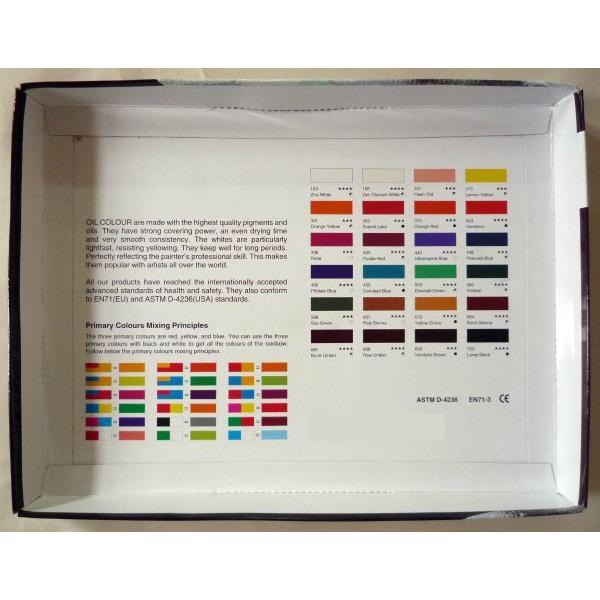画材 24色 油絵の具セット 12ml×24色|touo|02