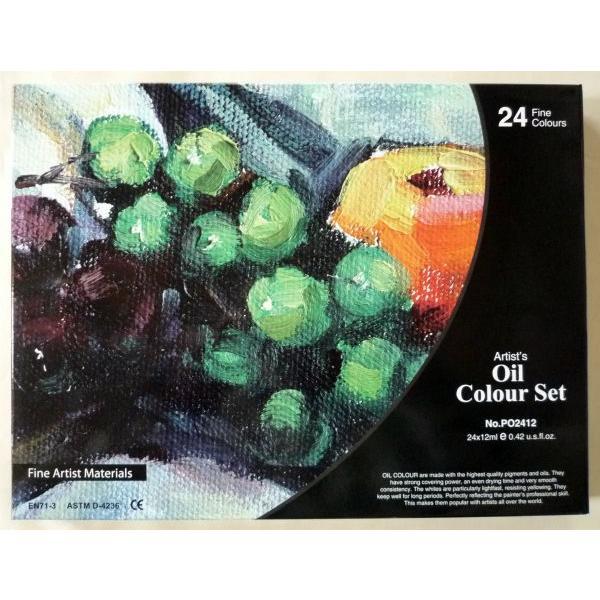 画材 24色 油絵の具セット 12ml×24色|touo|03