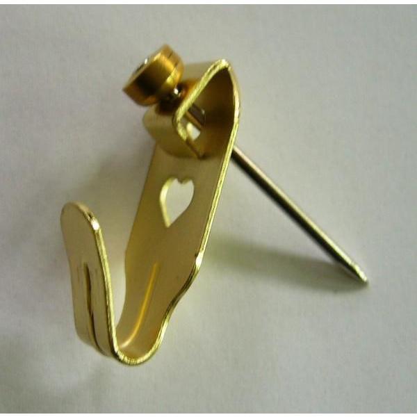 額縁 美術金具 1本針フック 金色 安全荷重1KG|touo