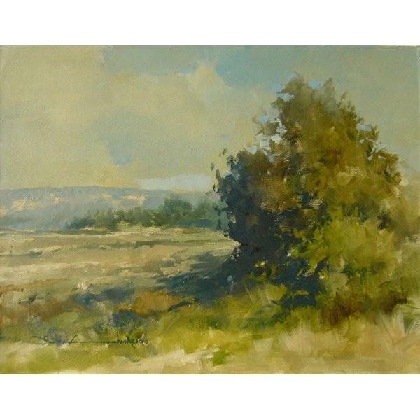 ヨーロッパ絵画 油絵 肉筆絵画 壁掛け (額縁 アートフレーム付きで納品対応可) サイズF6号 ロンバルド作 「丘」 touo
