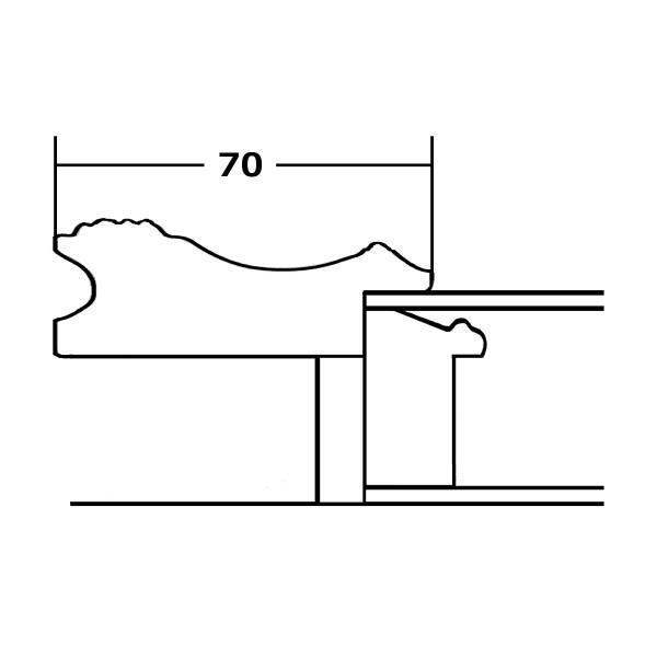 額縁 オーダーメイド額縁 オーダーフレーム 油絵額縁 油彩額縁と泥足とケース(仮縁仕上げ) フロール サイズM30号 組寸サイズ1700|touo|04