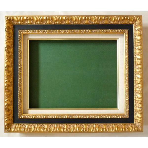 油絵額縁 油彩額縁 油絵用額縁 油彩用額縁 木製 9945 サイズF12号|touo