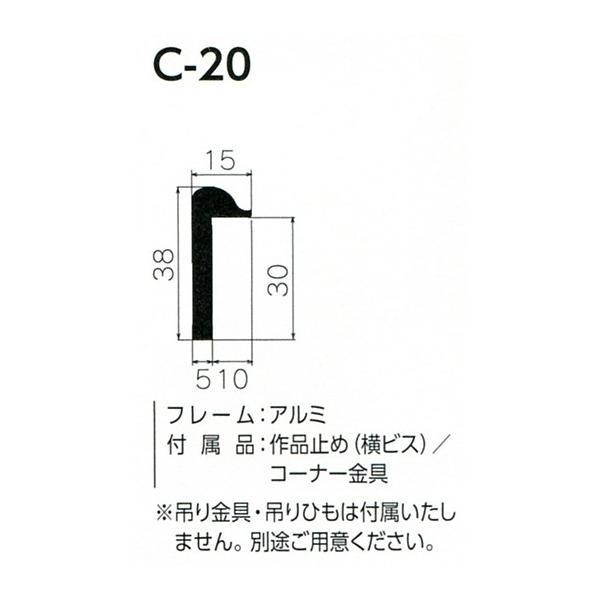 額縁 仮縁 油彩額 油絵額縁 仮縁 アルミフレーム C-20 サイズM3号 touo 02