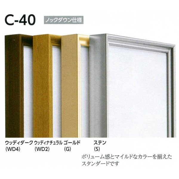 仮縁 正方形の額 アルミフレーム C-40 サイズS4号|touo