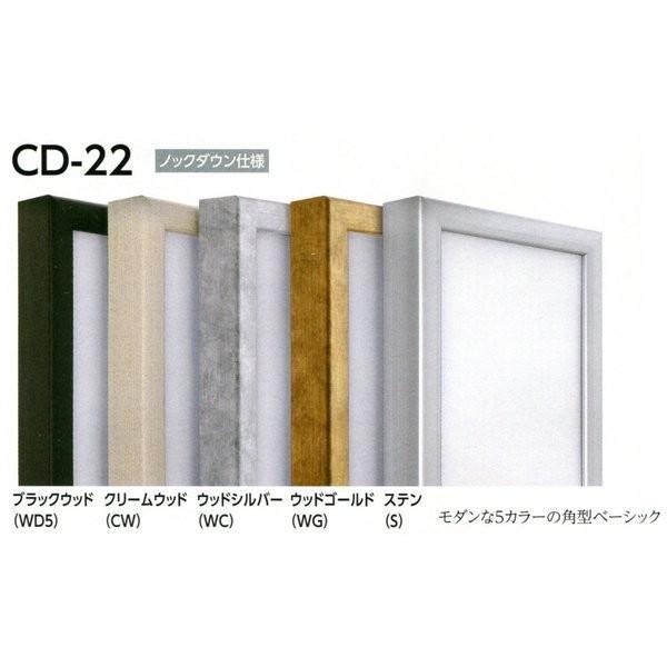 額縁 仮額縁 油絵額縁 油彩額縁 仮縁 アルミフレーム CD-22 サイズM150号|touo