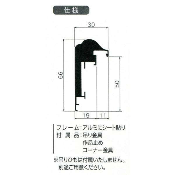 額縁 仮額縁 油絵額縁 油彩額縁 仮縁 アルミフレーム CD-77 サイズF0号|touo|02