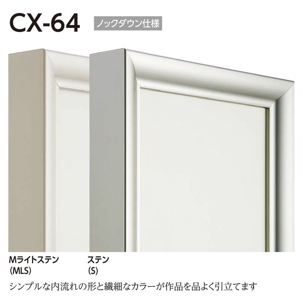 額縁 仮縁 油彩額 油絵額縁 仮縁 アルミフレーム CX-64 サイズM200号|touo