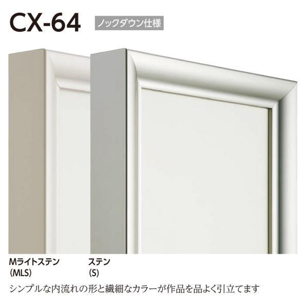 額縁 仮縁 油彩額 油絵額縁 仮縁 アルミフレーム CX-64 サイズP500号|touo