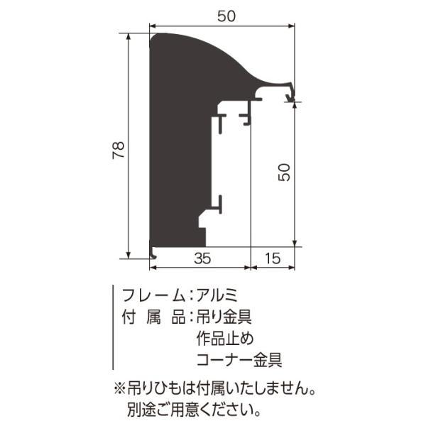 額縁 仮縁 油彩額 油絵額縁 仮縁 アルミフレーム CX-64 サイズP500号|touo|02