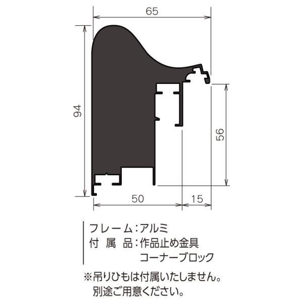 額縁 仮縁 油彩額 油絵額縁 仮縁 アルミフレーム CX-71 サイズM200号 touo 02