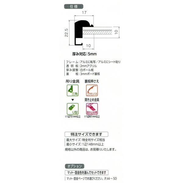 額縁 デッサン額 アルミフレーム MB-500N サイズMO判 touo 02
