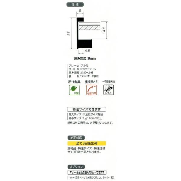 額縁 デッサン額縁 SH-203N サイズインチ|touo|02
