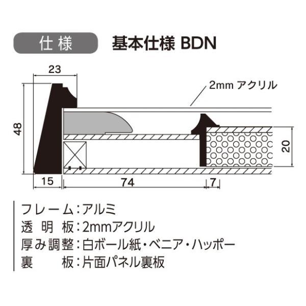 和額縁 日本画額縁 フレーム アルミ製 V-36 サイズM30|touo|02