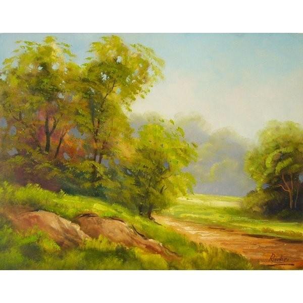 ヨーロッパ絵画 油絵 肉筆絵画 壁掛け (額縁 アートフレーム付きで納品対応可) サイズF6号 ラディッシー作 「陽だまり」|touo