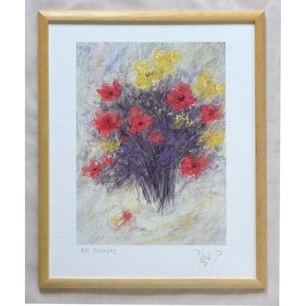 絵画 インテリア アートポスター 壁掛け ヨーロッパ製 (額縁 アートフレーム付き) 四ッ切サイズ -24-特価-|touo