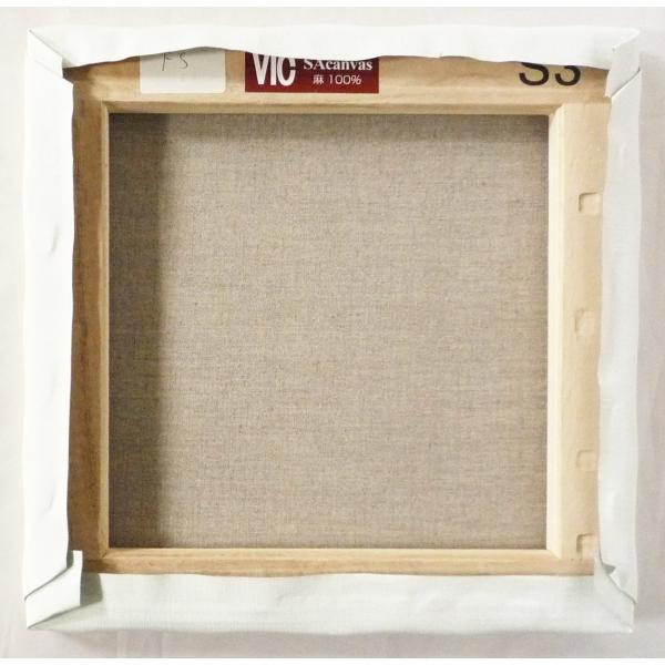 画材 油絵 アクリル画用 張りキャンバス 純麻 絹目 FS S15号サイズ 10枚セット|touo|05