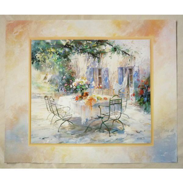 絵画 インテリア アートポスター 壁掛け ヨーロッパ製 (額縁 アートフレーム付きで納品対応可) 50X60cm WH6085|touo