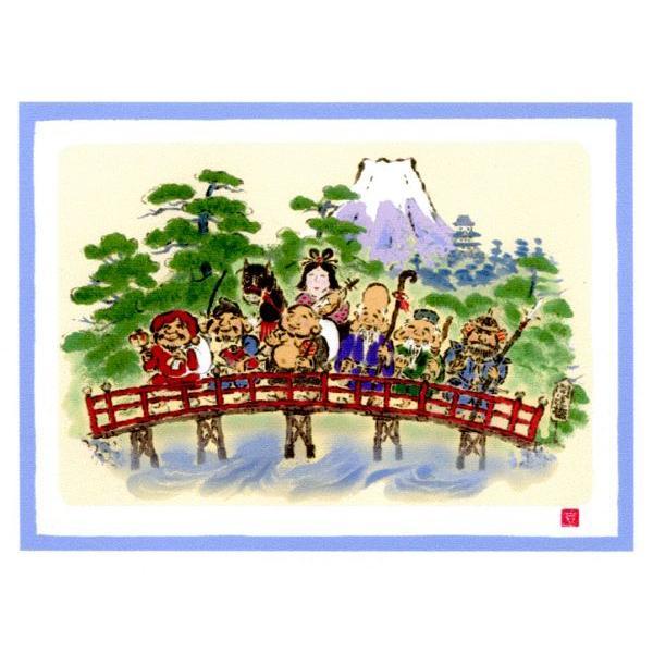ジーグレー版画 吉岡 浩太郎作 大開運七福神「七福神開運橋」|touo