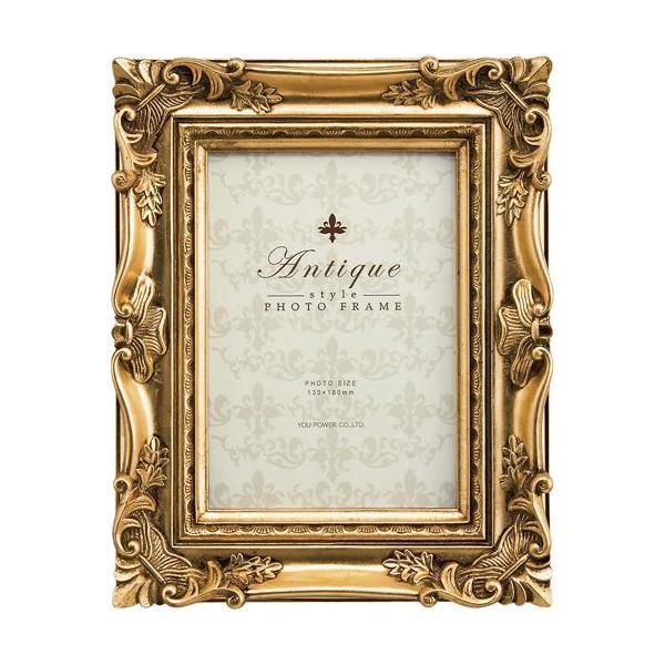額縁 フォトフレーム 写真立て アンティーク スタイル フォト「キャビネ(ゴールド)」|touo
