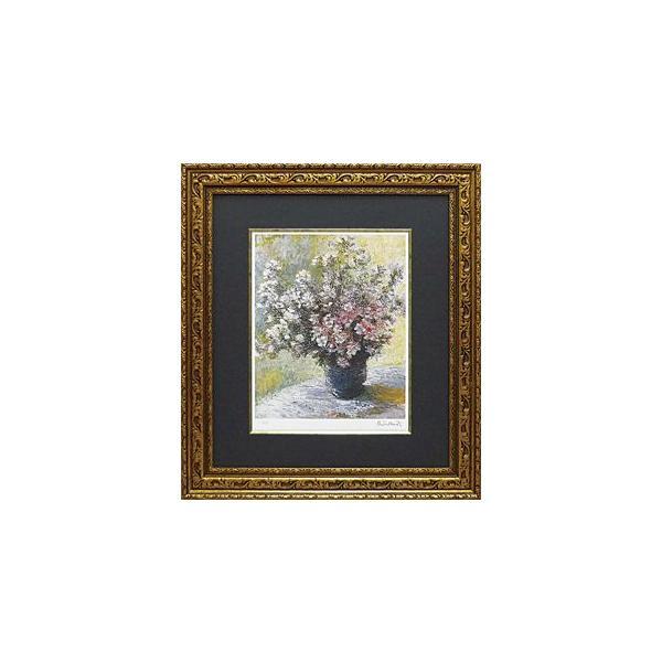 絵画 インテリア アートポスター 壁掛け (額縁 アートフレーム付き) ビッグアート クロード・モネ作 「花瓶の花」|touo