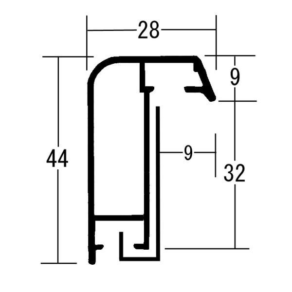 額縁 仮縁 油彩額 油絵額縁 仮縁 アルミフレーム F15 P15 M15 S12 「アフィックス28」 シャンパンゴールド|touo|06
