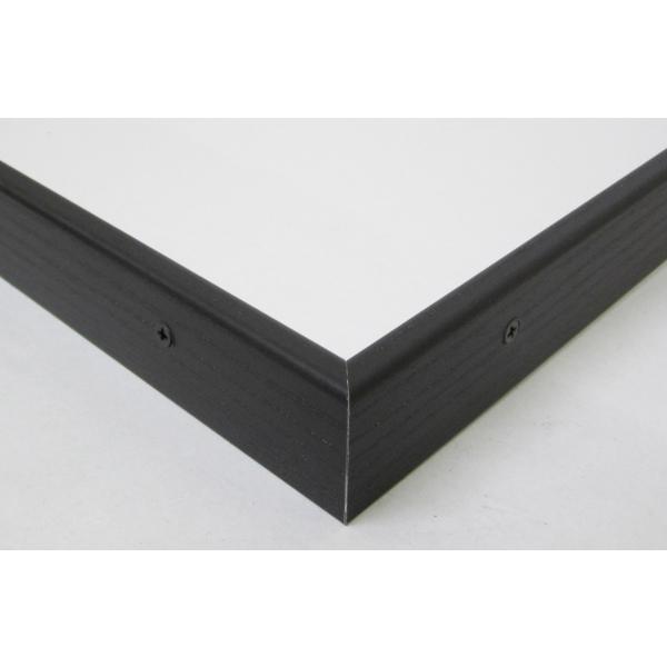 仮縁 オーダーフレーム オーダーメイド額 油絵額縁 「アフィックスO型」 ウッドブラック 組寸サイズ4000|touo|02
