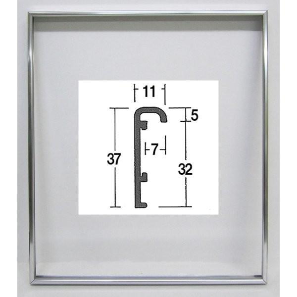 油絵額縁 油彩額縁 アートフレーム 仮縁 アルミ製 F12 「仮縁O型」 ステン|touo