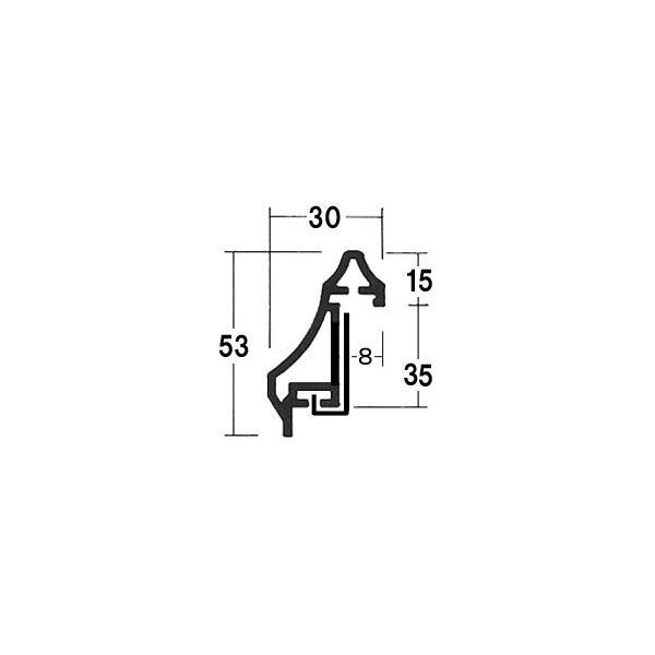 額縁 油彩額 油絵額縁 アルミフレーム F30 S25 「菊型」 ステン|touo|06