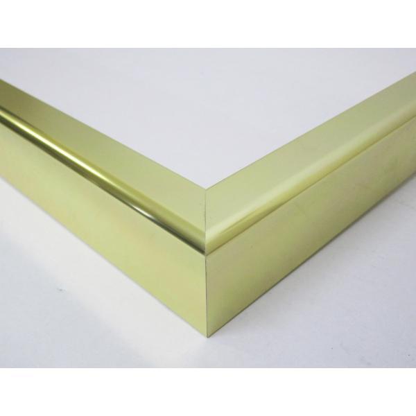額縁 油彩額 油絵額縁 アルミフレーム F30 S25 「プット28」 ゴールド|touo|02