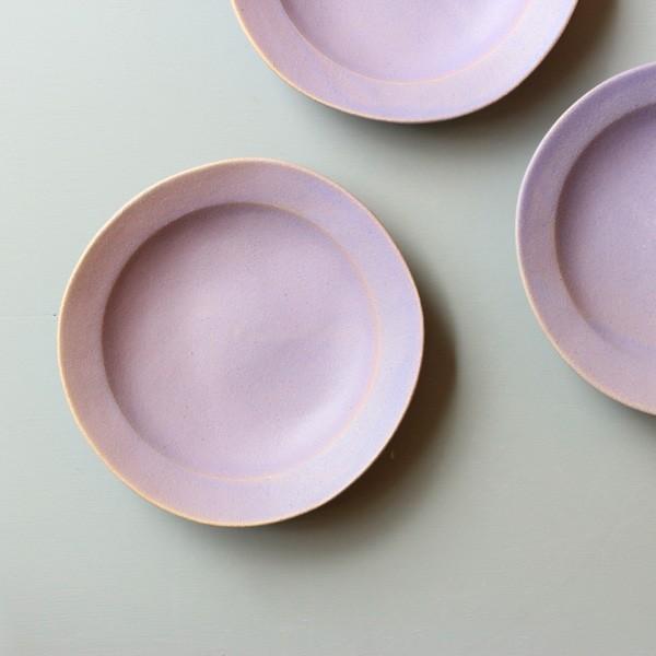 よしざわ窯 益子焼 プルーン ラウンドリム深小皿 小皿