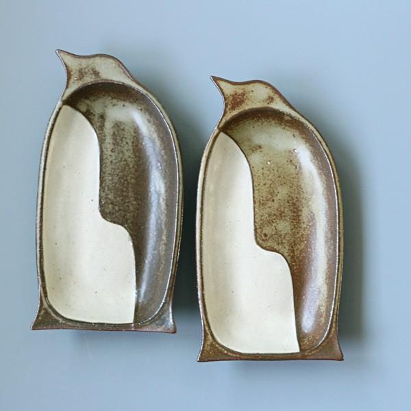よしざわ窯 益子焼 oldwhite ペンギン皿 中皿|tourbillon-shop
