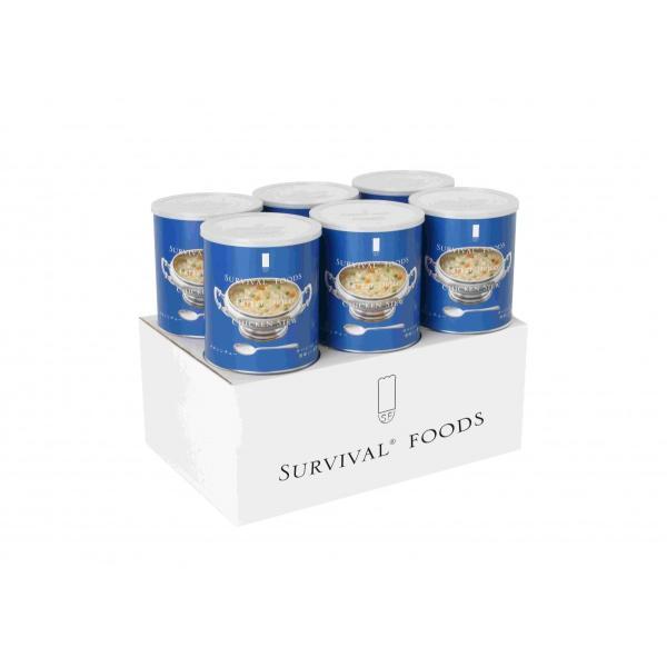 サバイバルフーズ チキンシチュー 1号缶 6缶 セット 保存食 非常食 備蓄 長期保管 送料無料